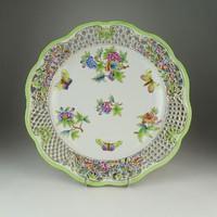 0Q419 Hatalmas Herendi porcelán falitál 34 cm