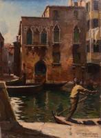 SZÁNTÓ LAJOS (1890 - 1965): Velence, 1923