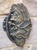 Öntöttvas falidísz-dekoráció-kopogtató dekoratív -ajándékba is