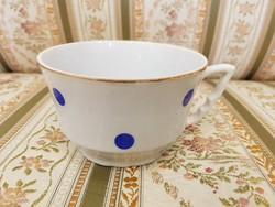 Zsolnay kék pöttyös csésze