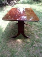 Art deco, stil ebédlő asztal, átalakítható, gyönyörű állapotú!