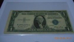 1935 E / Cutting Error- (Vágás-Hibás) Kék Pecsétes 1 Dollár