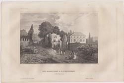 Acélmetszet: Die Eremitage v. J.J. Rousso(in Montmorency). 1800-as évek
