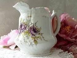 Antik  lila rózsás kiöntő
