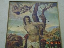"""Antik nyomat """"San Sebastian"""" II Sodoma reneszánsz festménye"""