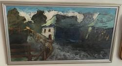 LITTECZKY ENDRE (1880 -1953)NAGYBÁNYA. NAGYON SZÉP OLAJKÉP AUKCIÓN MÉRETE: 42 cm x 24 cm