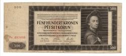 """500 korun 1942 Cseh-Morva """"II. auflage"""""""