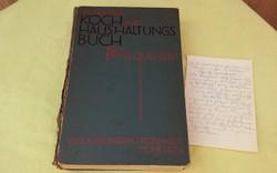 Német gótbetűs szakácskönyv kézzel írt recepttel  1930.