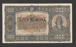 1000 korona 1923.  EF+!!  GYÖNYÖRŰ!!