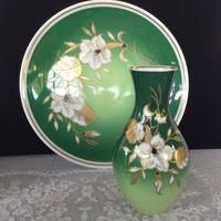 Wallendorfi  porcelán tányér+váza
