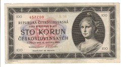 100 korun 1945 05.16. Csehszlovákia