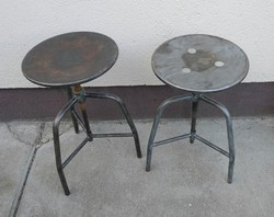 2 darab fém orvosi ülőke - loft, indusztriál, vintage