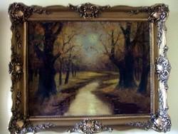 Antik szignós olaj festmény