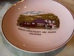 Hollóháza régen  FALI tányér  Munkás SZÖVETKEZET