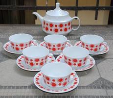 Retro Alföldi Centrum Varia 6 személyes teáskészlet
