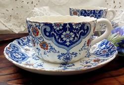 Antik Sarreguemines fajansz nagy  teás csésze