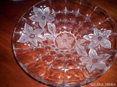 Hatalmas, gyönyörű üveg asztalközép 36 cm átm