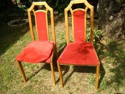 Nagyon masszív régi keményfa szék eladó 2 db 2500 ft/db áron
