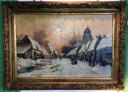 Belga festő Frans Von Huffel