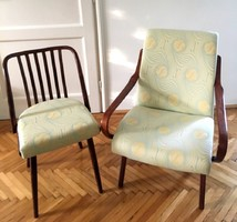 Felújított, egyedi stílusú design fotel és szék