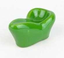 0R113 Régi zöld mázas kerámia pipatartó