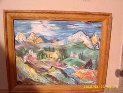 Molnár C. Pál festmény itáliai táj,képcsarnokos!
