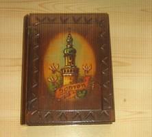"""Könyv alakú, kézműves fa doboz """"Sopron"""""""