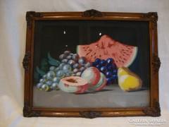 Gyümölcscsendélet blondel keretben Feher szignó