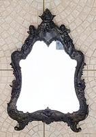 Antik öntöttvas barokk tükör