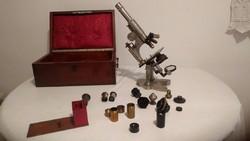 Nachet mikroszkóp 17. Rue St. Séverin Paris, 1900 eleje