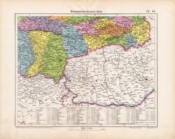 Magyarország délkeleti része térkép 1906, magyar atlasz, eredeti, Temes, Krassó - Szörény, Torontál