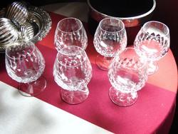 Konyakos kristály pohár készlet