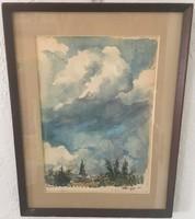 Haranghy Jenő 29,5 cm X 38,5 cm akvarell, papír