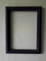 Antik - TRAMP ART- fa tükör vagy kép keret