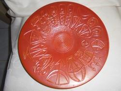 Horoszkópos Tófej kerámia tál