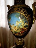 Antik porcelán váza bronz díszítéssel!!!Párban!! Az ár két darabra vonatkozik