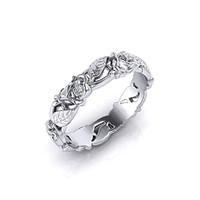 925-s finomságú ezüsttel töltött gyűrű, rózsa girland fazonban