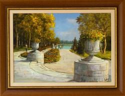 VÉGSŐ ÁR! HAMAROSAN LEKERÜL AZ OLDALRÓL! Lantos György - Füredi sétány c.festménye