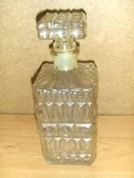 Retro dugós italtartó konyak whisky pálinka likőr kínáló üveg palack (18/d)