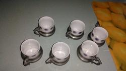 Régi jelzett Olasz kávés csészék