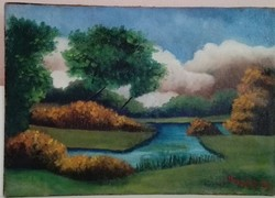 Mocsár Gyula gyönyörű tájképe