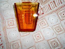 Borostyán színű art deco stílusban  üveg tartó