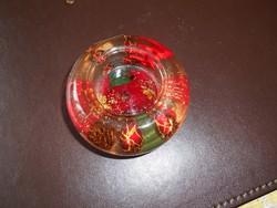 Karácsonyi üveg mécsestartó