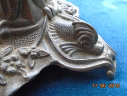 Rokokó gazdag dombormintás gyertyatartó-25 cm