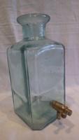 Olasz csapolt kék üveg palack