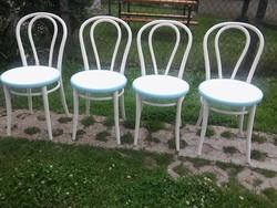 Thonet stílusú nem antik szék vintage stílusban elefántcsont-türkiz színben