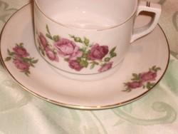 Antik vadrózsás teás csésze