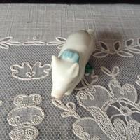 Antik Herendi porcelán mini malac