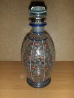 Antik pöttyös üveg kiöntő (fp)