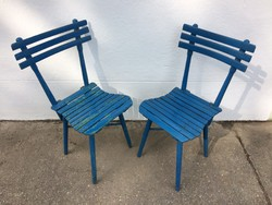 Vintage régi kerti fa szék 2db